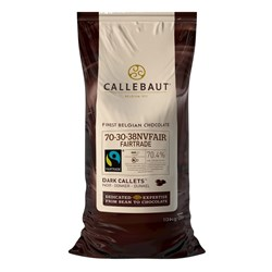 Callebaut Dark Couverture Fairtrade Callets 70% 2x10kg Bag