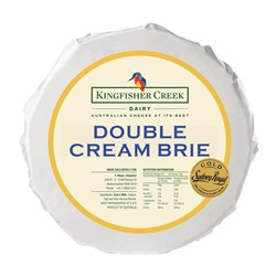 Kingfisher Creek Double Cream Brie 2x1.2kg
